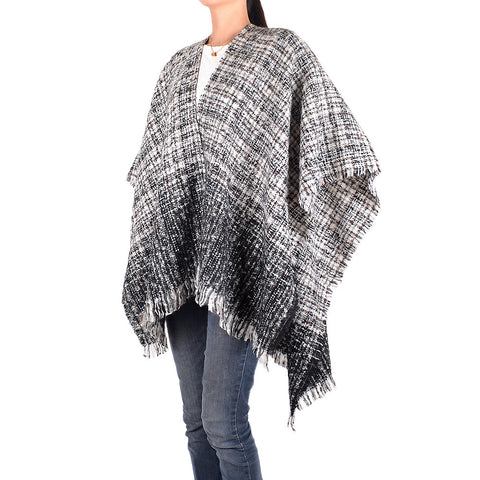 Black & White Winter Shawl