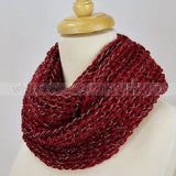 "48"" Solid Color Silver Thread Infinity Scarf"