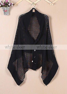 "72"" Dual Scarf Shawl with Button"