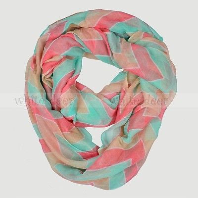 "BULK/LOT SALE - 70"" Wide 3 Color Chevron Infinity Scarf BUYING ALL ONLY"