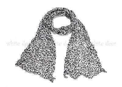 "64"" Wrinkle Small Leopard Scarf"