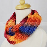 "48"" Tie Dye Knitted Infinity Scarf"