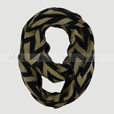 "58"" Thick Chevron Infinity Scarf"