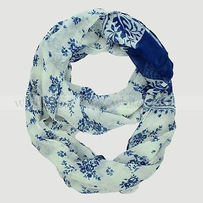 "64"" Floral Infinity Scarf"