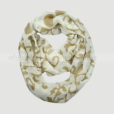"64"" Cute Floral Flower Infinity Scarf"