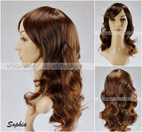 Women's Long Brown Blonde Caramel Curly Wavy Full Wigs Hair Party High Quality