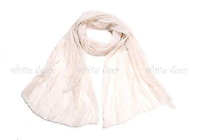 "64"" Wrinkle Solid Color Scarf"
