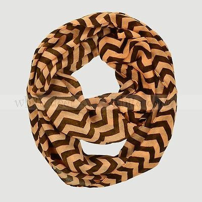 "BULK/LOT SALE - 70"" Wide Chevron Infinity Scarf Black BUYING ALL ONLY"