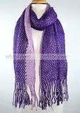 "72"" Fishnet Net Two Color Winter Scarf"