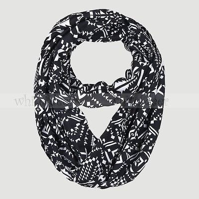 "BULK/LOT SALE -  62"" Geometric Infinity Scarf BUYING ALL ONLY"
