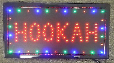 HOOKAH 3 Color High Visible LED Light Business Motion Open Sign Chain Switch