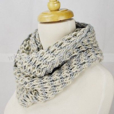"48"" Stripped Knitted Infinity Scarf"