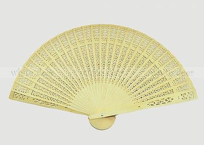 12 PCS Fragrant Wood Hand Fan