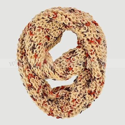 "72"" Knitted Multi Color Infinity Scarf"