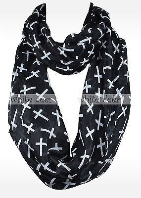 "68"" Cross Infinity Scarf"
