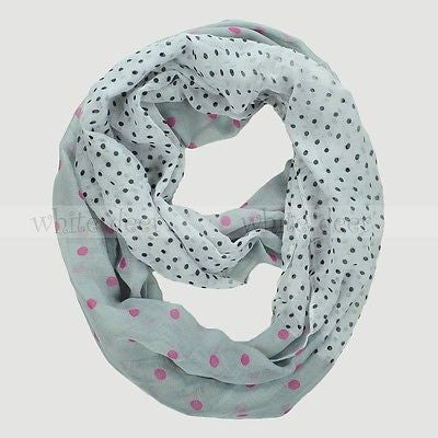 "BULK/LOT SALE- 64"" Polka Dot Infinity Scarf BUYING ALL ONLY"