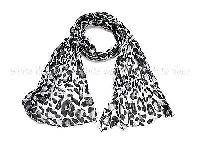 "64"" Wrinkle Big Leopard Scarf"
