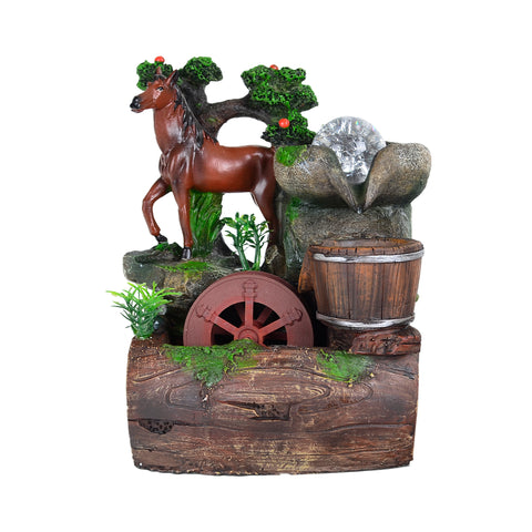 Horse & Bucket Water Fountain #2105