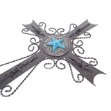 "22"" Lone Star Iron Wall Cross"