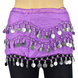 98 Coins Chiffon Belly Dance Scarf