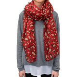 "72"" Soft Leopard Scarf"