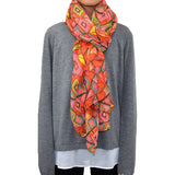 Geometric Print Large Soft Scarf