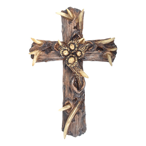 "13"" Dead Tree Bark Wall Cross"
