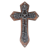 "17"" Lone Star Wood Wall Cross"