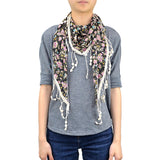 "BULK/LOT SALE - 65"" Floral Triangle Lace Scarf BUYING ALL ONLY"