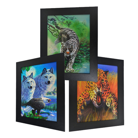 Wolf Eagle Tiger & Cheetah 3D Picture PTD05