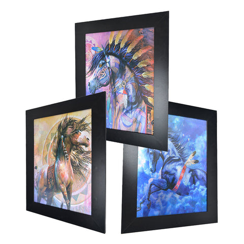 Native American Indian Tribe Horse 3D Picture PTD12
