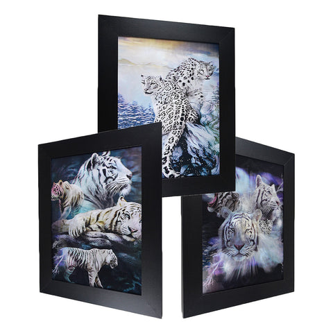 White TIger & Cheetah 3D Picture PTD48
