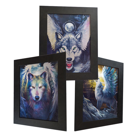 Winged Wolf 3D Picture PTD57