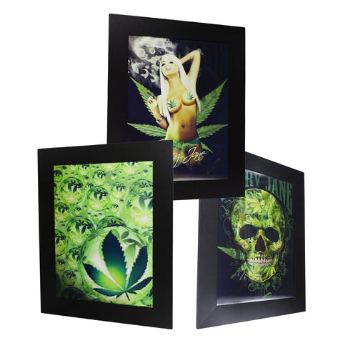 Mary Jane & Skull 3D Picture PTP23