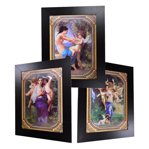Baby Angels and Naked Girls Painting 3D Picture PTR02