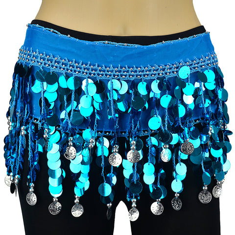 Solid Sequines Belly Dance Scarf