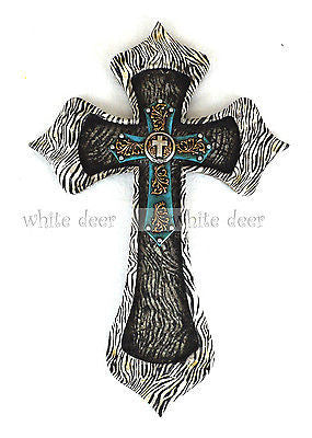 "16"" Zebra Print Wall Cross"