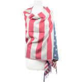 Winter American Flag Scarf
