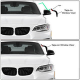 Chevrolet Malibu 13-16 Acrylic Window Visor Sun Rain Deflector Guard