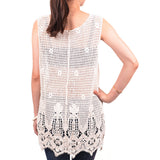 Over Hip Lace Tank Top LS071