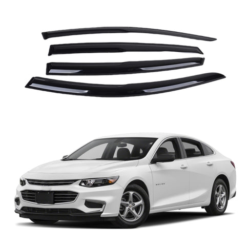 Chevrolet Malibu 17-19 Acrylic Window Visor Sun Rain Deflector Guard