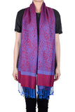 "72"" Two Color Pashmina Paisley Scarf"