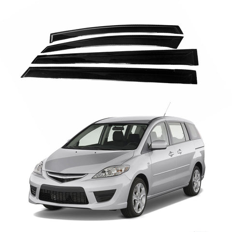 Mazda 5 06-10 Acrylic Side Window Vent Visor Sun Rain Deflector Guard