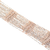 "70"" Crochet Beads Scarf with Fringe"