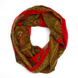 "64"" Paisley Floral Infinity Scarf"