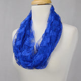 "66"" Crochet Solid Color Infinity Scarf"