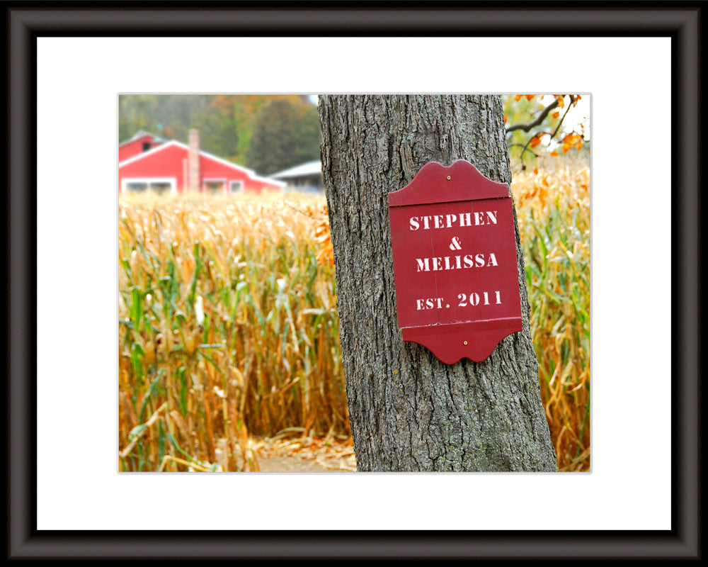 Farm Sign Personalized Art Print