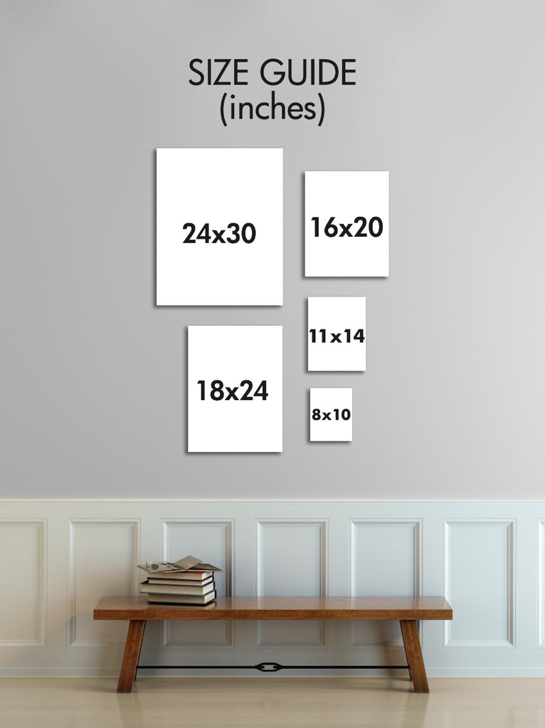 size chart personalized art