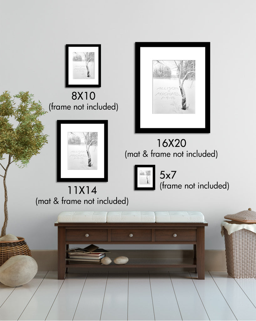 winter art prints personalized