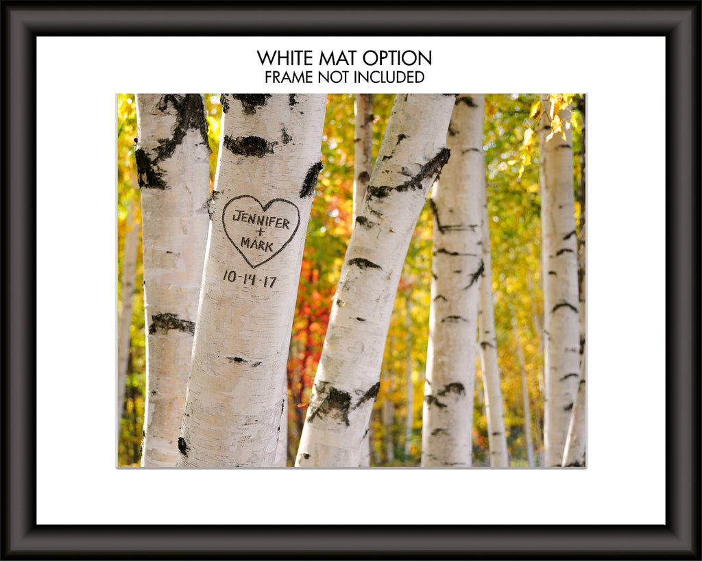 personalized birch tree art